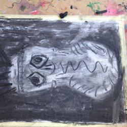 LABO 4-5 jarigen: Vormen van de nacht (houtskool)