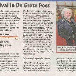 Eerste muziekfestival in De Grote Post