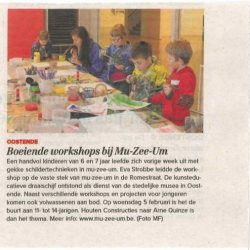 Boeiende workshops in mu-zee-um