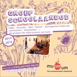 DE NIEUWE BROCHURE GROEP (SCHOOLAANBOD) 2014 - 2015
