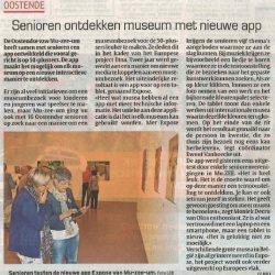 Senioren ontdekken museum met nieuwe app