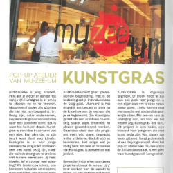 KUNSTGRAS: Pop-Up Atelier van mu-zee-um
