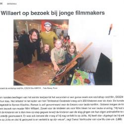 Wim Willaert op bezoek bij jonge filmmakers (2014)